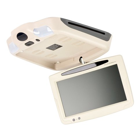 """9"""" Car Flip Down Monitor with DVD Player Beige"""