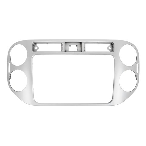 Radio Trim Plate for VW Tiguan 2013 14 MY for RCD510, RNS510, RCD310, RNS310, RNS315 silver