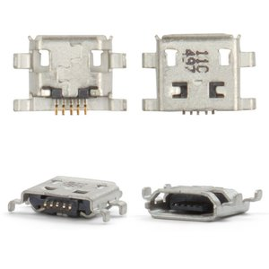 Charge Connector for Blackberry 8900, 9500, 9530, 9630, Z10 Cell Phones, (5 pin, micro USB type-B)