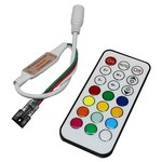 LED Controller with IR Remote Control TH2015-X-IR (RGB, WS2811, WS2812, 12 V)
