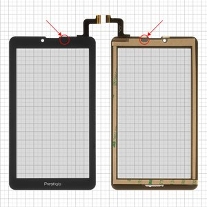 Touchscreen for Elenberg TAB740; Irbis TZ47, TZ70; Nomi C07004 Sigma+, C07006 Cosmo+ ; Prestigio MultiPad Wize (PMT3157), MultiPad Wize (PMT3407); Digma  Hit 4G, Plane 7.4 4G Tablets, (7