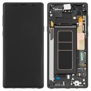 Lcd Compatible With Samsung N960 Galaxy Note 9 Black With Touchscreen With Frame Original Prc Midnight Black Original Glass