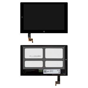 Pantalla LCD para tablet PC Lenovo Yoga Tablet 2-1051 LTE, negro, con cristal táctil