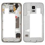 Parte media de carcasa puede usarse con Samsung G900H Galaxy S5, plateada
