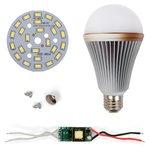Juego de piezas para armar lámpara LED SQ-Q24  12 W (luz blanca fría, E27)
