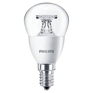 LED-лампа Philips CorePro Luster, WW (теплый белый) , Е14, 5.5 Вт, 520 лм