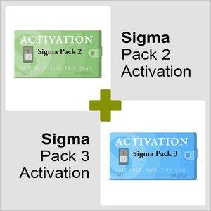 Активации Pack 2 и Pack 3 для Sigma