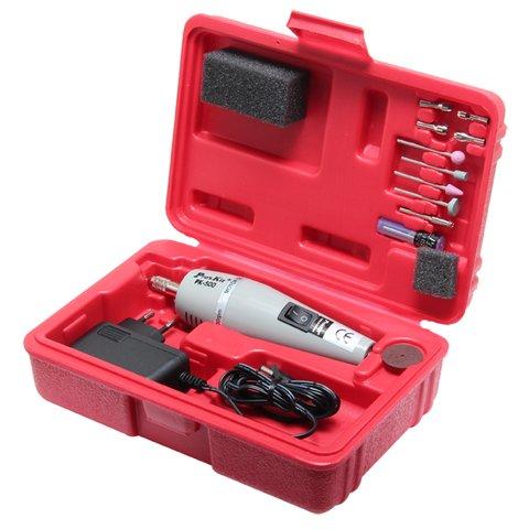 Mini-taladro con adaptador y juego de brocas/puntas Pro'sKit 1PK-500B-2